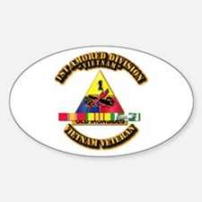 1st Armor Div w SVC Ribbons Decal