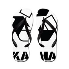 Karma - what goes around comes around f Flip Flops