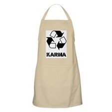 Karma - what goes around comes around funny Apron