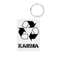 Karma - what goes around c Keychains