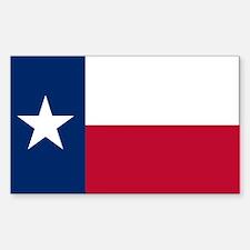 Texas Flag Rectangle Decal