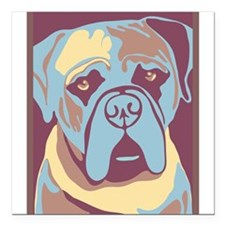 "MY BEAUTIFUL MASTIFF Square Car Magnet 3"" x 3"""