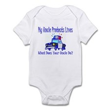 Police Protects Lives-Uncle Infant Bodysuit