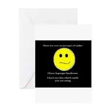 aspie smile Greeting Card