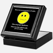 aspie smile Keepsake Box