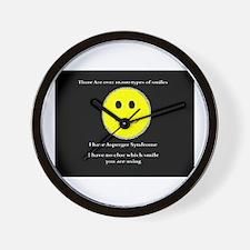 aspie smile Wall Clock