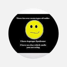 """aspie smile 3.5"""" Button"""