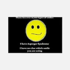 aspie smile Rectangle Magnet (10 pack)