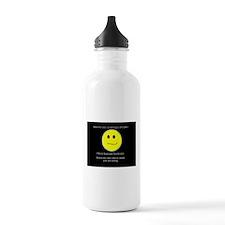 aspie smile Water Bottle