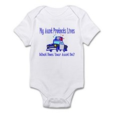 Police Protects Lives-Aunt Infant Bodysuit
