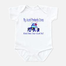 Police Protects Lives-Aunt Infant Bodysuit
