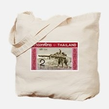 1968 Thailand Working Elephant Postage Stamp Tote