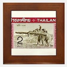 1968 Thailand Working Elephant Postage Stamp Frame