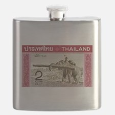 1968 Thailand Working Elephant Postage Stamp Flask