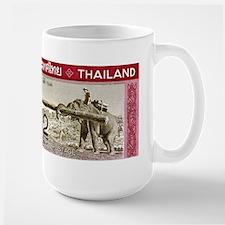 1968 Thailand Working Elephant Postage Stamp Mug