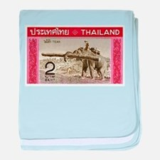 1968 Thailand Working Elephant Postage Stamp baby