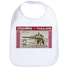 1968 Thailand Working Elephant Postage Stamp Bib