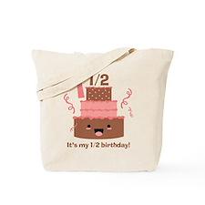 Kawaii Cake 1 1/2 Birthday Tote Bag
