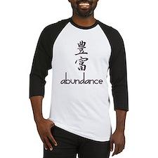 Abundance in English and Kanji Baseball Jersey