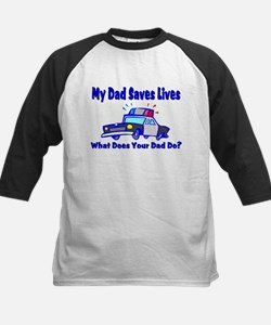 Police-Saves Lives-Dad Tee