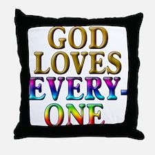 GOD Loves Everyone Throw Pillow