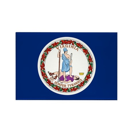 Virginia Flag Rectangle Magnet