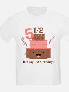 Kawaii Cake 5 1/2 Birthday T-Shirt