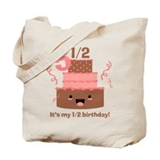 Kawaii Cake 5 1/2 Birthday Tote Bag