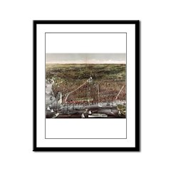 The City of Brooklyn - 1879 Framed Panel Print