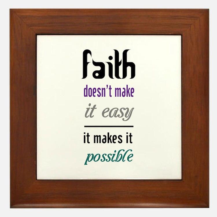 Faith Possible Framed Tile