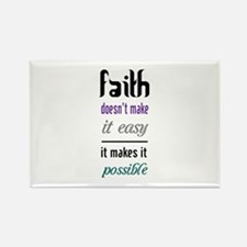 Faith Possible Rectangle Magnet