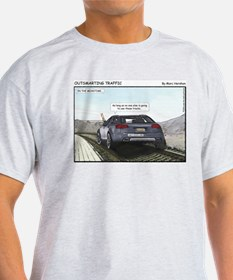 Outsmarting Traffic Ash Grey T-Shirt