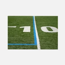 Football Field Ten Rectangle Magnet