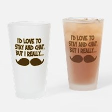 I Really Must-Dash Drinking Glass