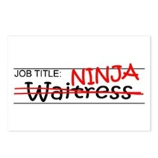 Job Ninja Waitress Postcards (Package of 8)
