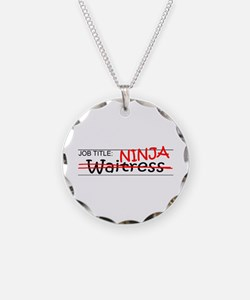 Job Ninja Waitress Necklace Circle Charm