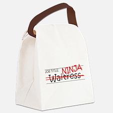 Job Ninja Waitress Canvas Lunch Bag