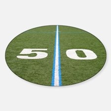 Football Field Fifty Decal