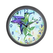 Hummingbird Clock Wall Clock