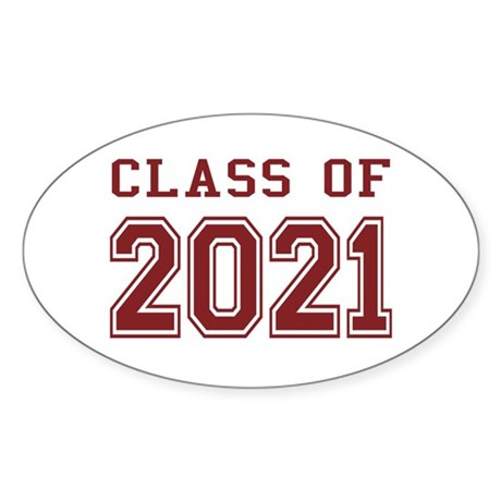 Class of 2021 Sticker (Oval)
