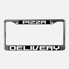 Pizza Delivery License Plate Frame
