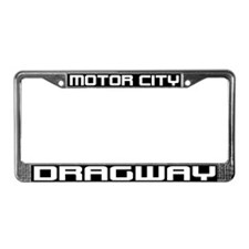 Motor City Dragway License Plate Frame