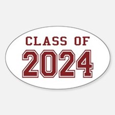 Class of 2024 (Red) Decal