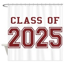 Class of 2025 (Red) Shower Curtain