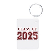 Class of 2025 (Red) Aluminum Photo Keychain