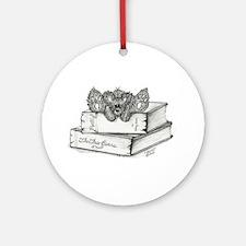 """FLOYD"" Bear - Books Ornament (Round)"
