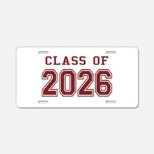 Class of 2026 (Red) Aluminum License Plate