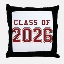 Class of 2026 (Red) Throw Pillow