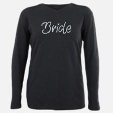 Faux Rhinestone Bride Plus Size Long Sleeve Tee