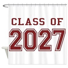 Class of 2027 (Red) Shower Curtain